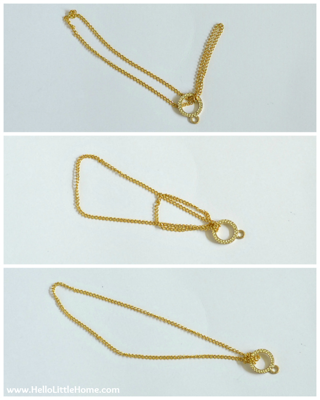 DIY Suede Tassels: Attaching the Chain and Toggle Clasp | Hello Little Home