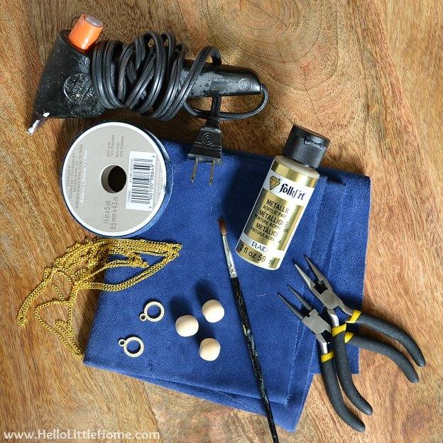 DIY Suede Tassels: Supplies | Hello Little Home