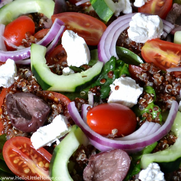 Greek Quinoa Salad | Hello Little Home #recipe #healthy #MotivationMonday
