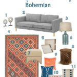 Living Room Style: One Sofa, Three Ways - Bohemian | Hello Little Home #InteriorDesign #furniture