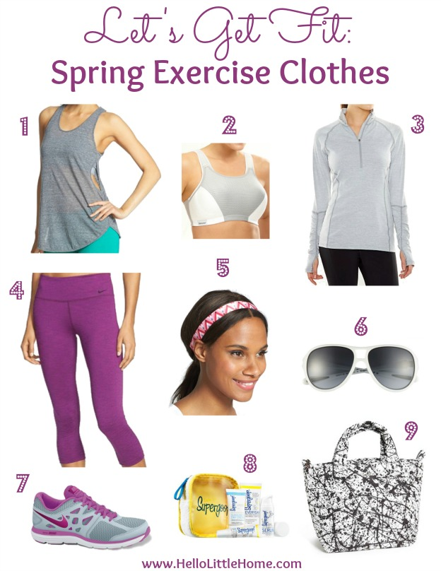 Let's Get Fit: Spring Exercise Clothes | Hello Little Home #style #fashion #workout
