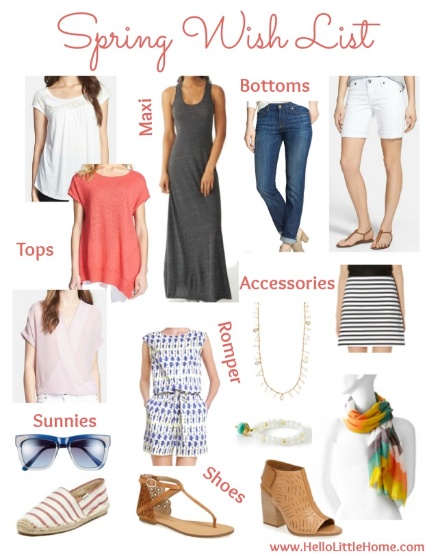 Spring Wish List | Hello Little Home #clothes #shopping #fashion