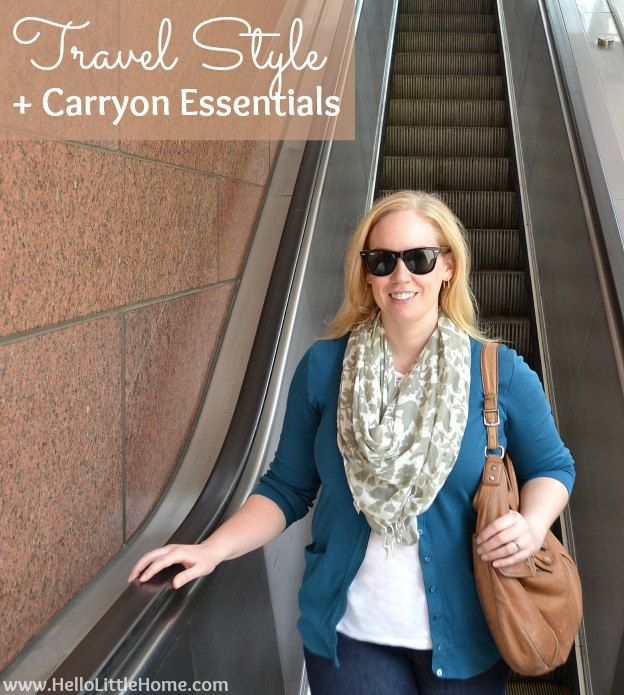 Travel Style + Carryon Essentials | Hello Little Home #fashion #outfit