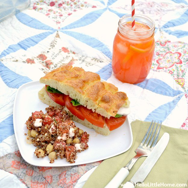Easy Vegetarian Picnic Recipes Hello Little Home
