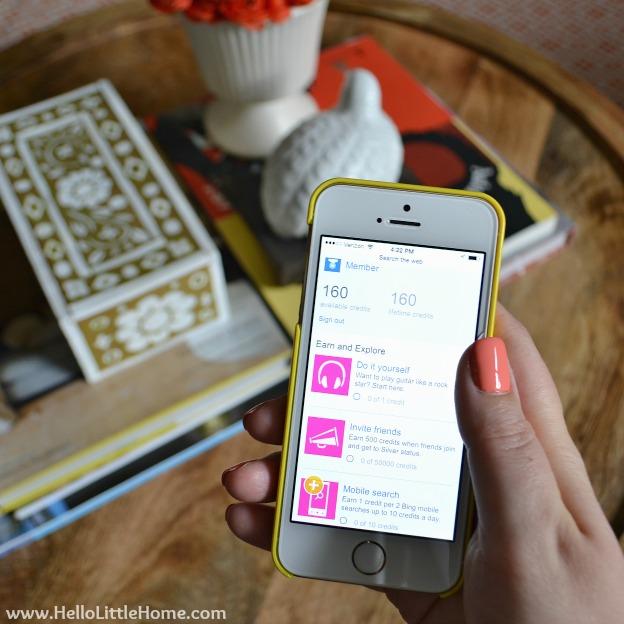 Bing Rewards Mobile App | Hello Little Home #BingBlogger