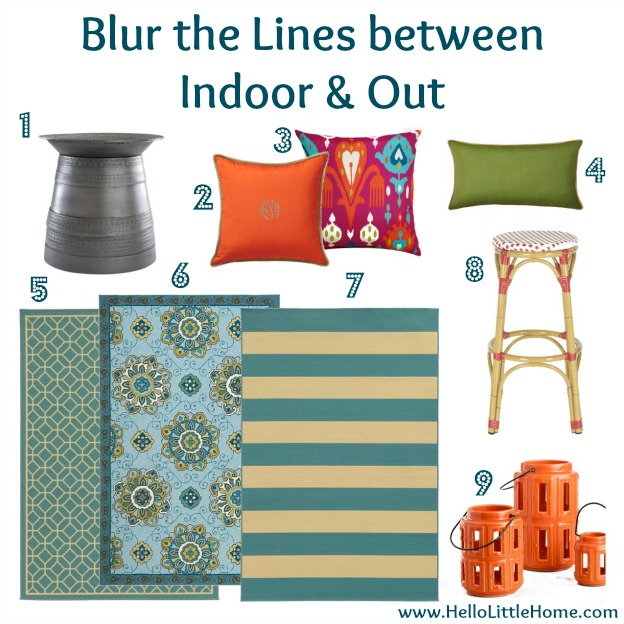 Bring the Outside Inside: Blur the Line | Hello Little Home #InteriorDesign #Decor