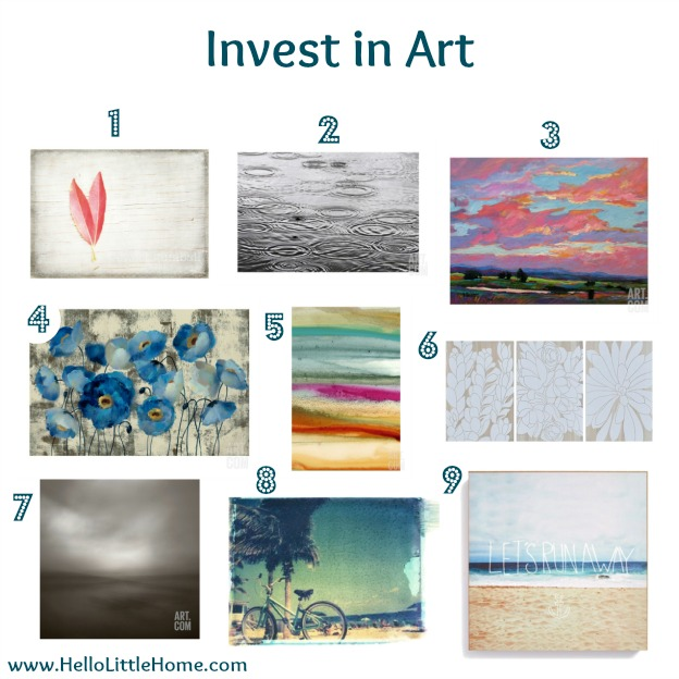 Bring the Outdoors Inside: Invest in Art | Hello Little Home #InteriorDesign #Decor