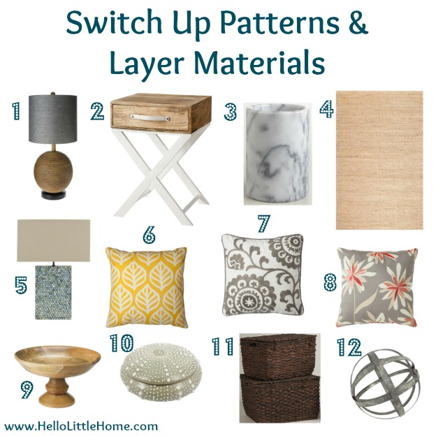 Bring the Outdoors Inside: Switch Up Patterns & Layer Materials | Hello Little Home #InteriorDesign #Decor
