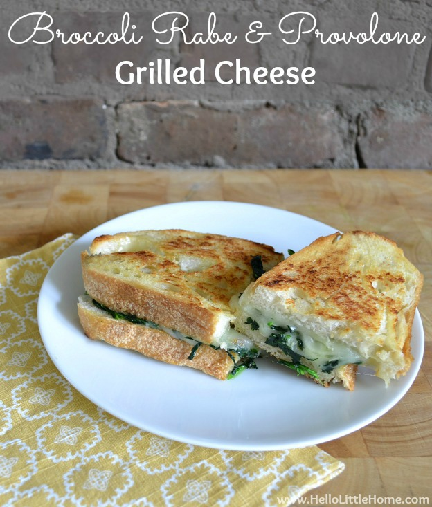 Broccoli Rabe and Provolone Grilled Cheese | Hello Little Home #recipe #sandwich