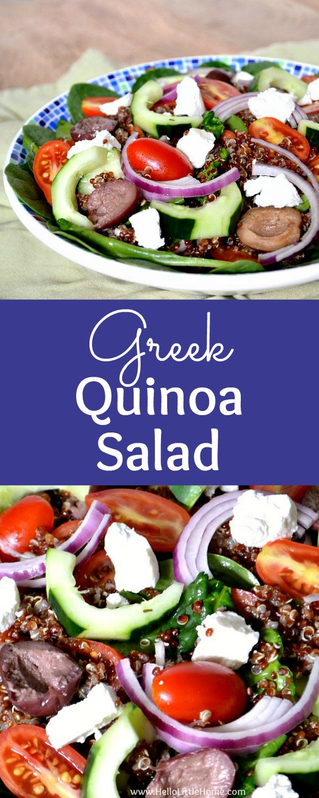 Greek Quinoa Salad + Tips for Losing Weight