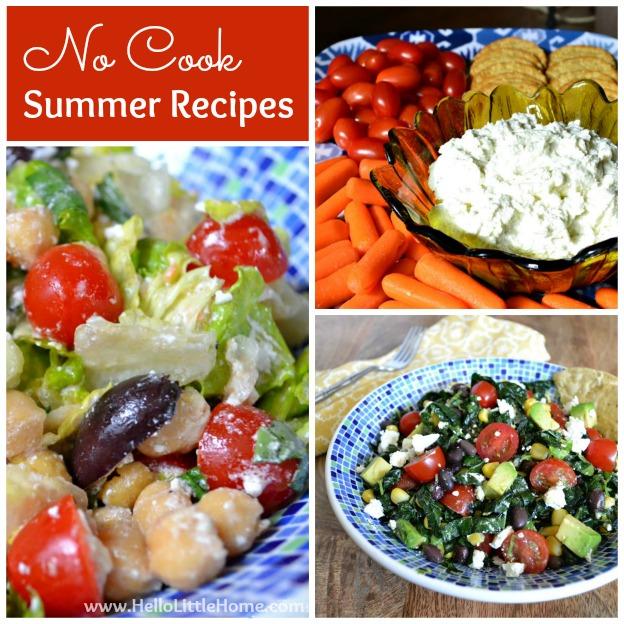 No Cook Summer Recipes | Hello Little Home #vegetarian #BingBlogger