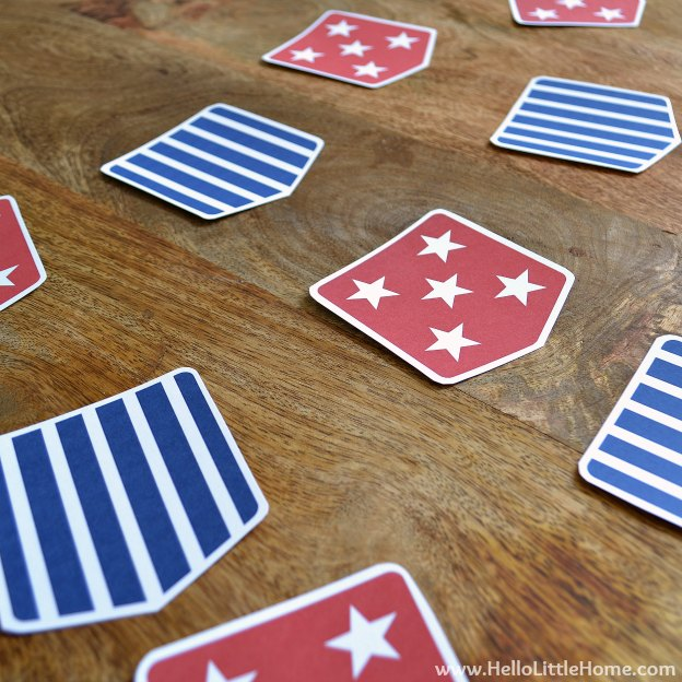 Stars and Stripes Bunting: Laying Out Pattern | Hello Little Home