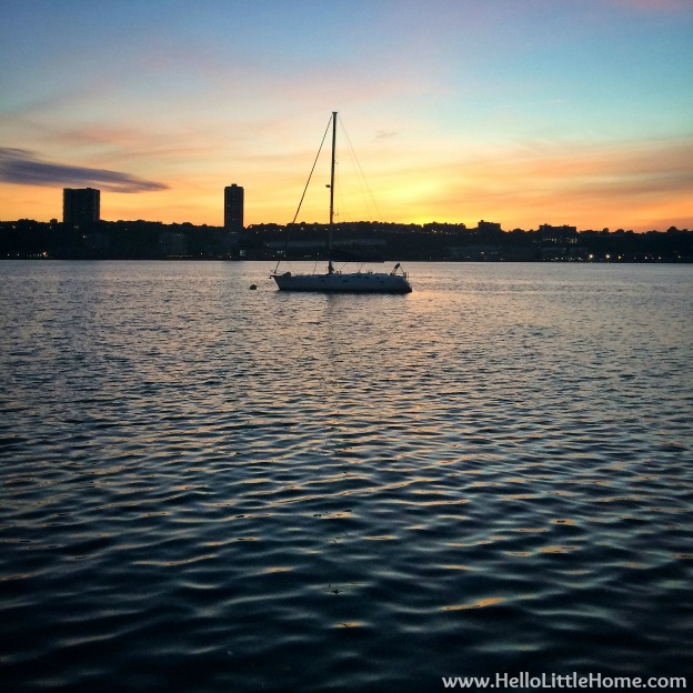 Sunset Over the Hudson River | Hello Little Home