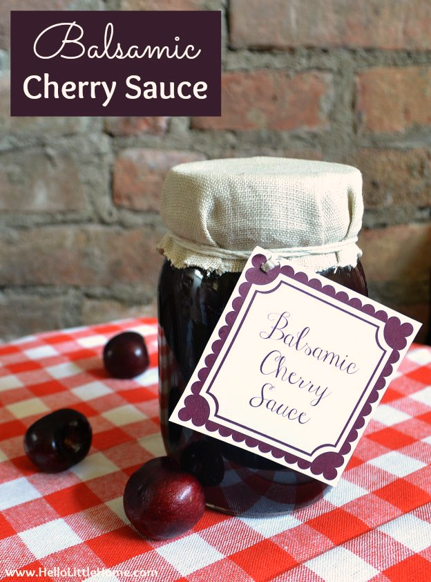 Balsamic Cherry Sauce | Hello Little Home #caramel #dessert
