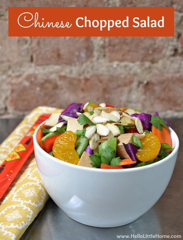 Motivation Monday + Chinese Chopped Salad   Hello Little Home #recipe #NoCook #vegetarian