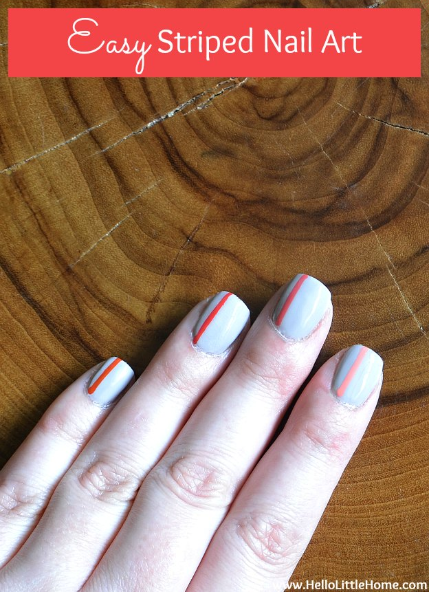 Easy striped nail artg easy striped nail art hello little home manicure nailpolish prinsesfo Image collections