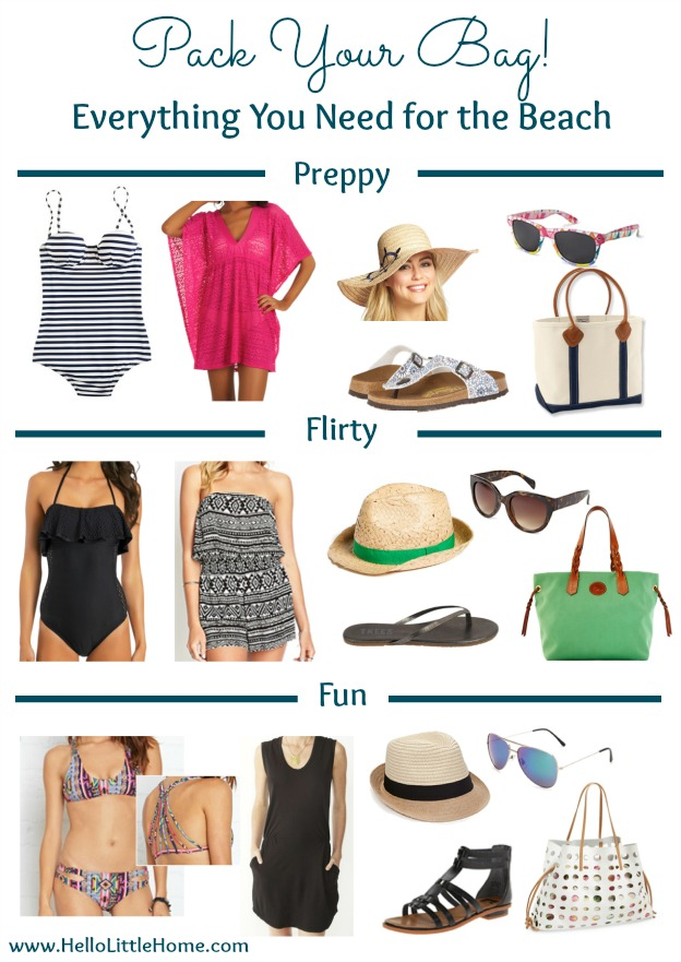 Everything You Need for the Beach   Hello Little Home #style #fashion #summer