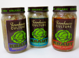 Fancy Food Show Favorites: Farmhouse Culture Kraut | Hello Little Home #sauerkraut #fermented #raw