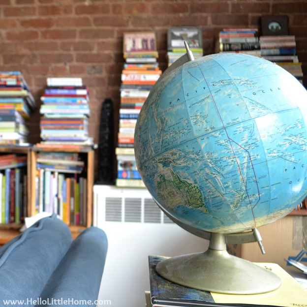 Peek into My Home: Vintage Globe | Hello Little Home #InteriorDesign #decor #apartment