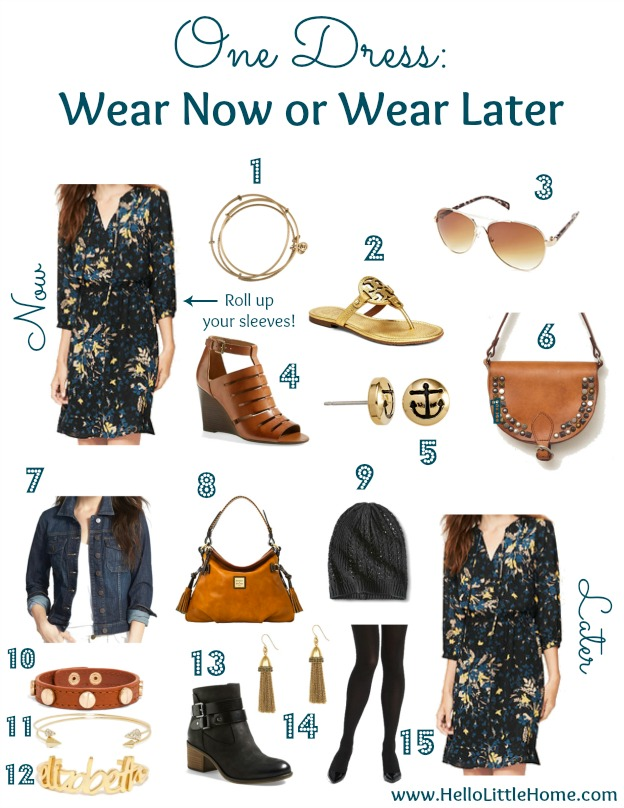 One Dress: Wear Now or Wear Later | Hello Little Home #style #fashion #fall