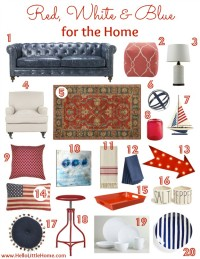 Red, White & Blue for the Home | Hello Little Home #InteriorDesign