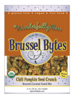 Fancy Food Show Favorites: Wonderfully Raw Brussel Bytes | Hello Little Home #BrusselsSprouts #raw #snack