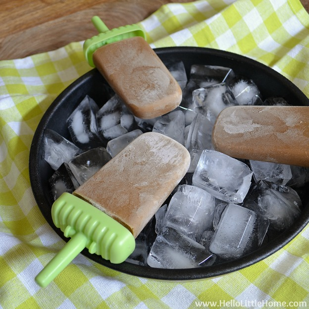 Coconut Milk Iced Coffee Popsicles   Hello Little Home
