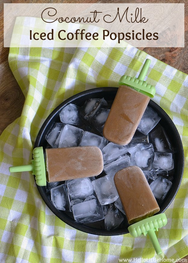 Coconut Milk Iced Coffee Popsicles | Hello Little Home