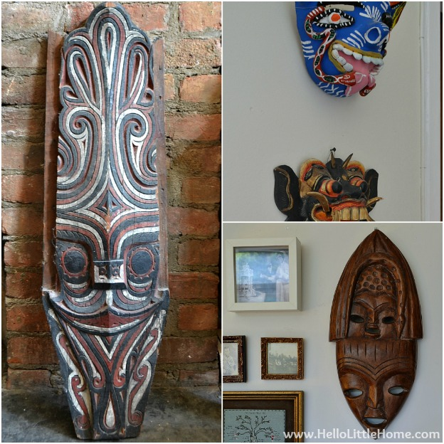 The Collections We Keep: Masks | Hello Little Home #InteriorDesign #Decor