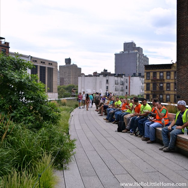 Explore NYC with Me: The High Line - Construction Workers | Hello Little Home