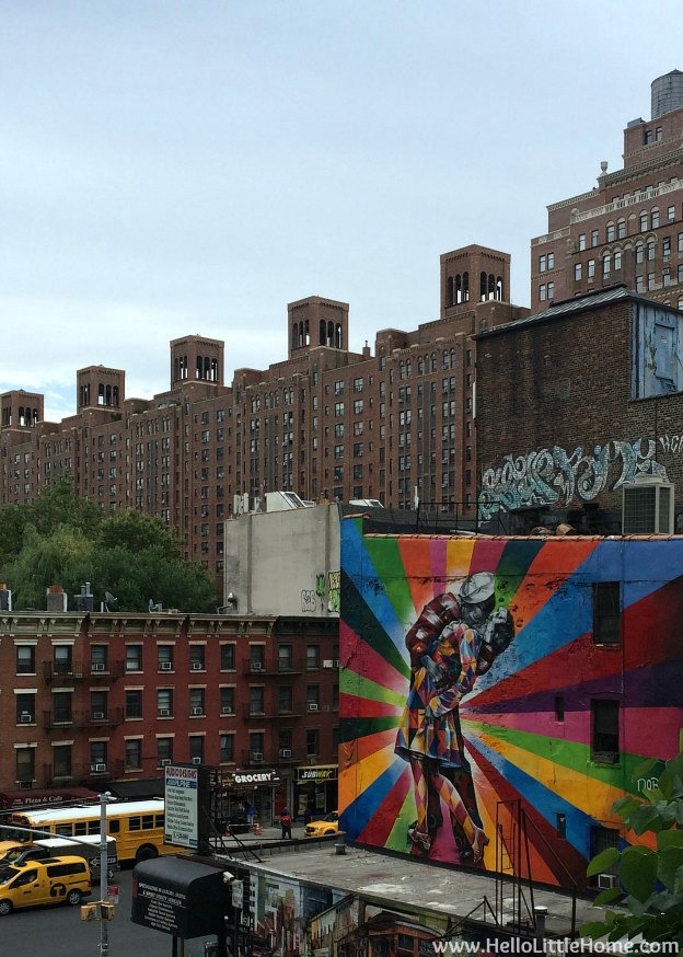 Explore NYC with Me: The High Line - Eduardo Kobra Mural | Hello Little Home