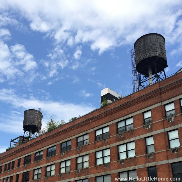 Explore NYC with Me: The High Line - Water Towers | Hello Little Home