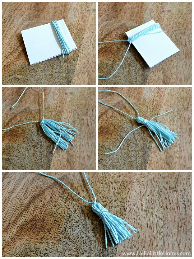 Ombre Tassel Cocktail Napkins: Making Tassels | Hello Little Home #DIY #coasters