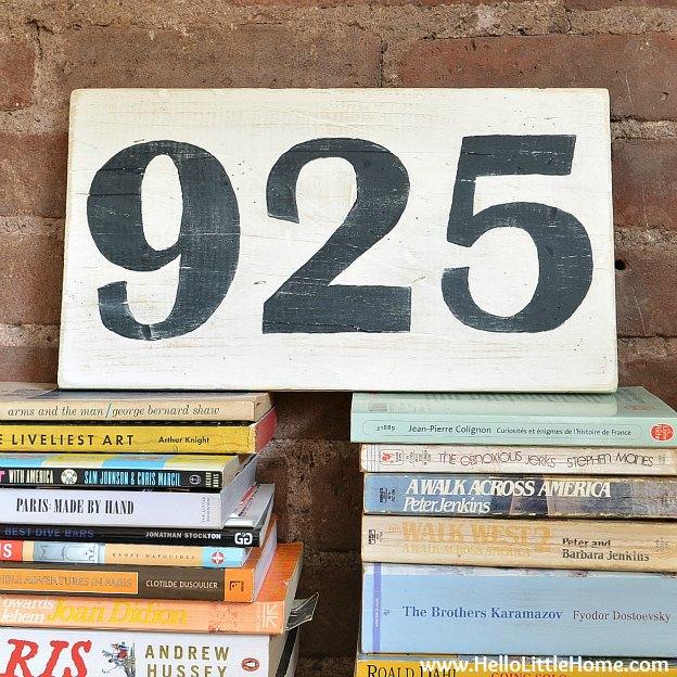DIY Vintage Number Sign | Hello Little Home #craft #distressed #wood