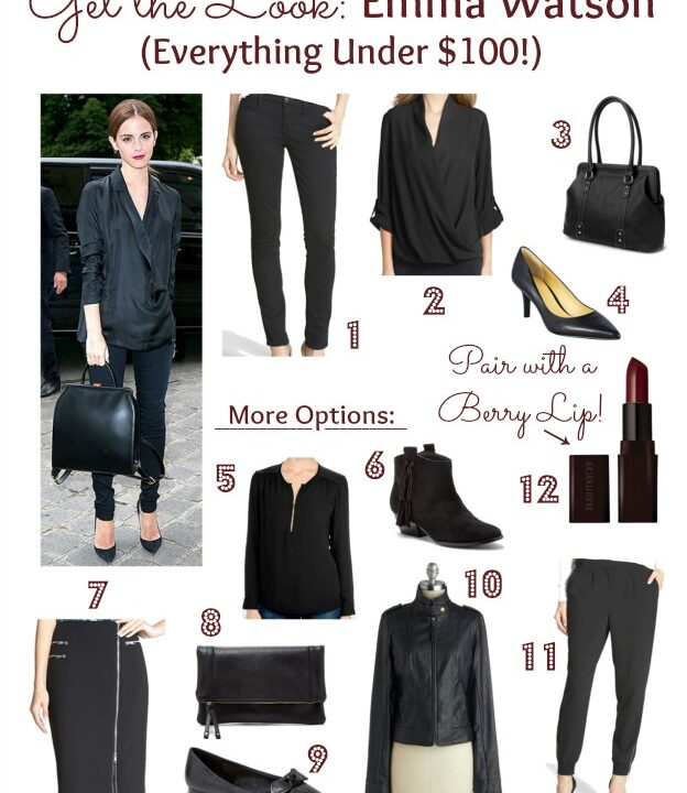 Get the Look: Emma Watson in All Black | Hello Little Home #fashion #style #FallStyle