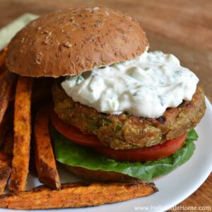 Indian-Spiced Quinoa Chickpea Burgers