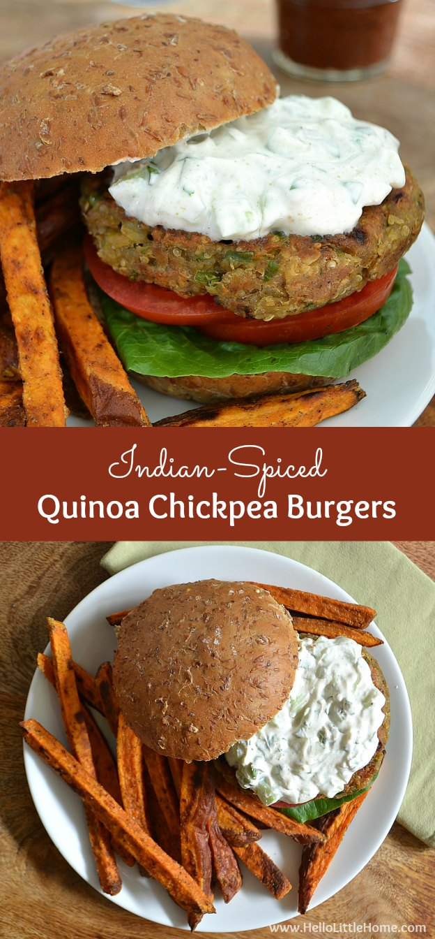 Treat yourself to a delicious and healthy Indian-Spiced Chickpea Burgers recipe! | Hello Little Home