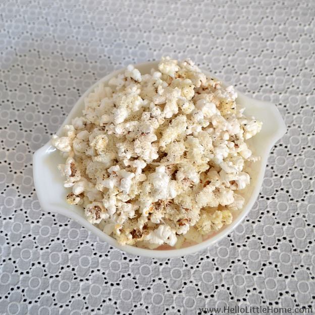 Parmesan Pepper Popcorn | Hello Little Home #snack #recipe
