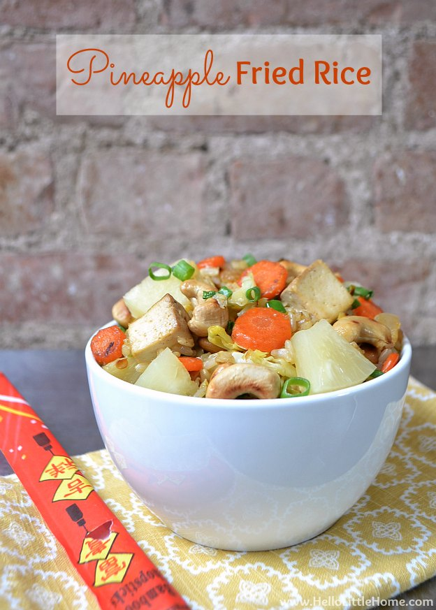 Pineapple Fried Brown Rice | Hello Little Home #FriedRice #Recipe