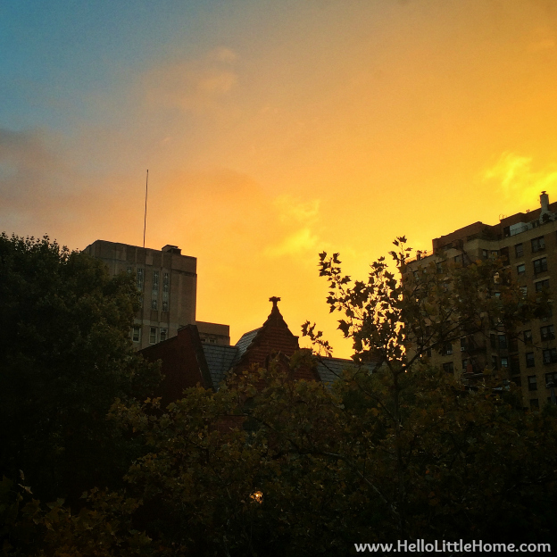 Sunset from My Apartment | Hello Little Home