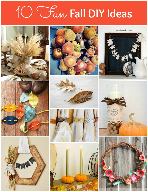 10 Fun Fall DIY Ideas | Hello Little Home #DIY #Crafts #FallProjects