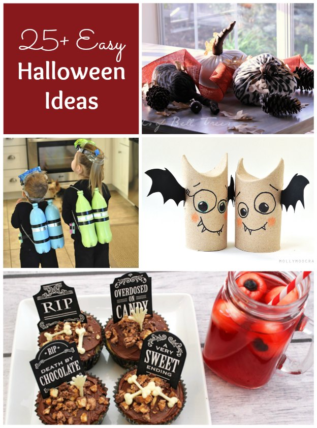 25+ Easy Halloween Ideas | Hello Little Home #DIY #crafts #recipes #Halloween