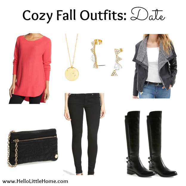 3 Cozy Fall Outfits: Date | Hello Little Home #style #fashion #FallFashion #DateNight #DateStyle