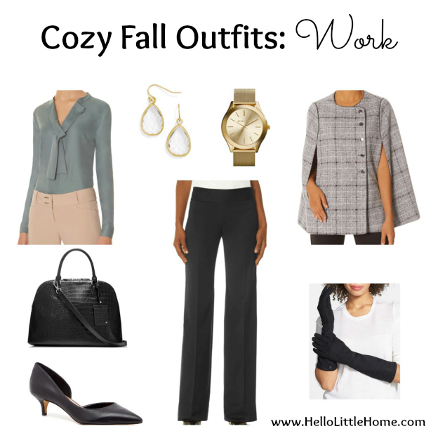 3 Cozy Fall Outfits: Work | Hello Little Home #style #fashion #FallFashion #WorkStyle