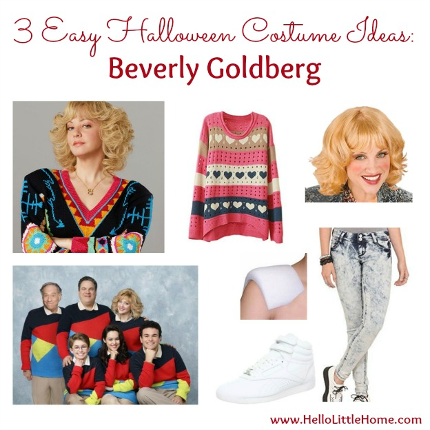 3 Easy Halloween Costume Ideas: Beverly Goldberg | Hello Little Home #Halloween #BeverlyGoldberg #TheGoldbergs