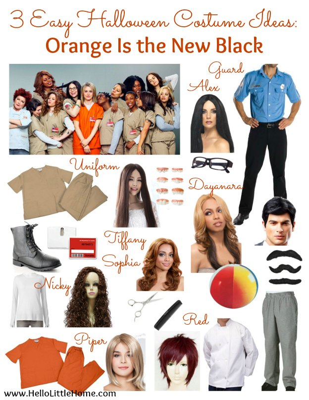 3 Easy Halloween Costume Ideas: Orange Is The New Black | Hello Little Home #Halloween #OrangeIsTheNewBlack