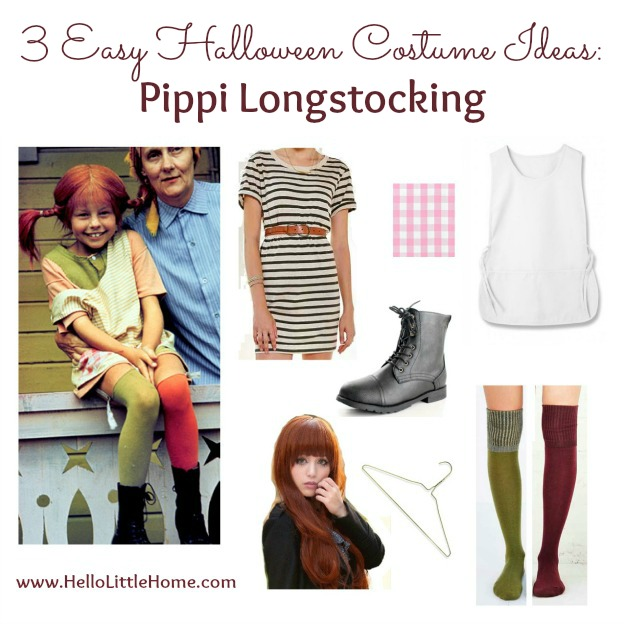 3 Easy Halloween Costume Ideas: Pippi Longstocking | Hello Little Home #Halloween #PippiLongstocking