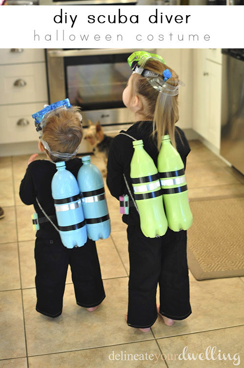 DIY Scruba Diver Costume by Delineate Your Dwelling