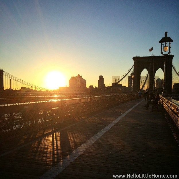 Brooklyn Bridge Sunrise | Hello Little Home