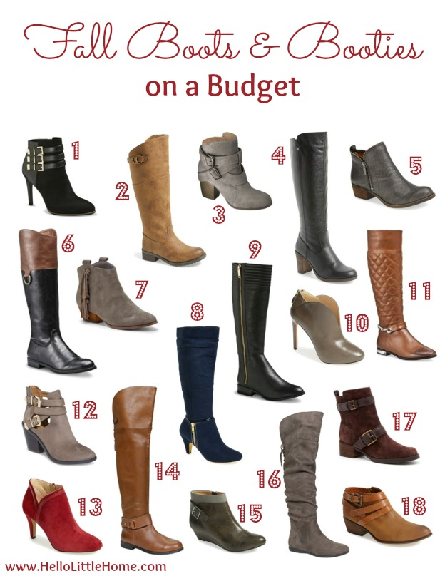 Fall Boots and Booties on a Budget | Hello Little Home #FallStyle #shoes